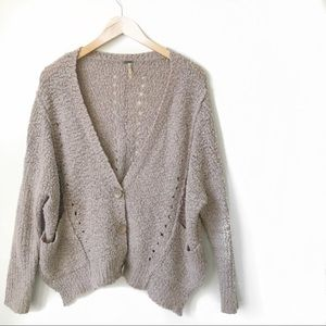 Free People Button-Up Cardigan
